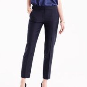 NWT J CREW Black Super 120s Wool Ankle Dress Pants